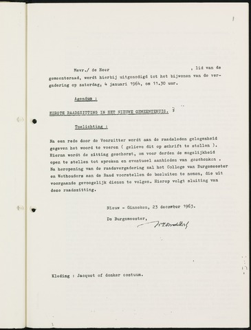 Nieuw-Ginneken - Notulen en bijlagen van de gemeenteraad 1964