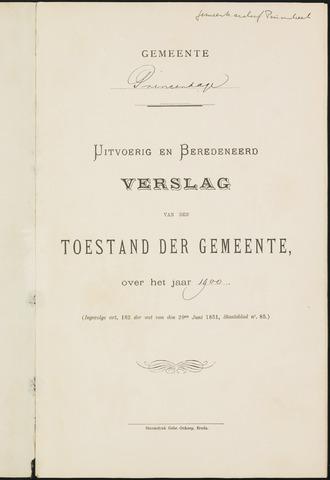Princenhage - Verslagen van de toestand van de gemeente 1900