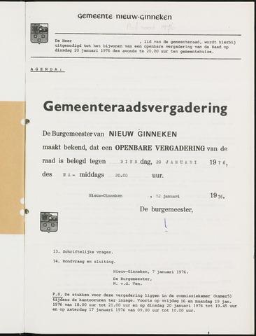 Nieuw-Ginneken - Notulen en bijlagen van de gemeenteraad 1976