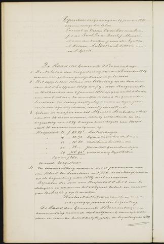 Princenhage - Notulen van de gemeenteraad 1880