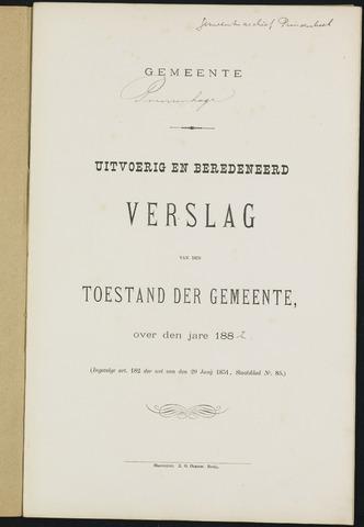 Princenhage - Verslagen van de toestand van de gemeente 1882-01-01