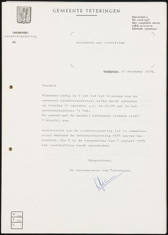 Teteringen - Notulen en bijlagen van de gemeenteraad 1974-12-17