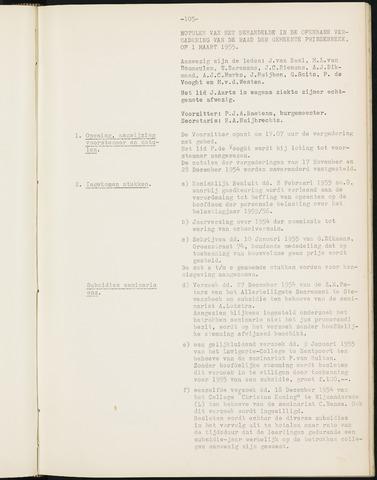 Prinsenbeek - Notulen van de gemeenteraad 1955