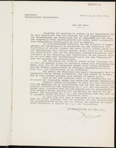 Prinsenbeek - Bijlagen bij de notulen van de gemeenteraad 1945