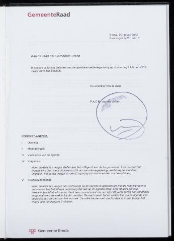 Breda - Bijlagen bij de notulen van de gemeenteraad 2012-02-02