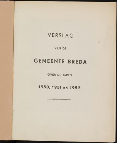 Breda - Verslagen van de toestand van de gemeente 1950