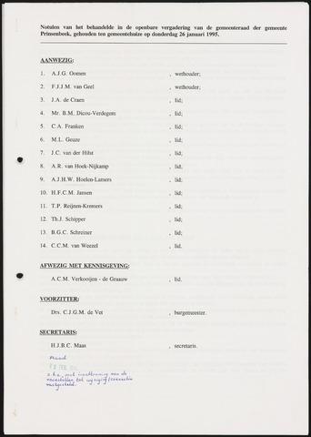 Prinsenbeek - Notulen van de gemeenteraad 1995