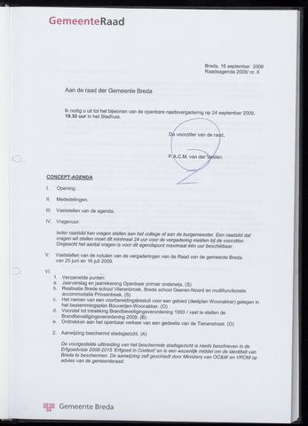 Breda - Bijlagen bij de notulen van de gemeenteraad 2009-09-24