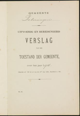 Teteringen - Verslagen van de toestand van de gemeente 1914