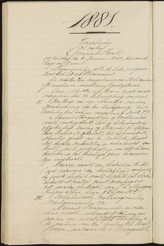 Teteringen - Notulen en bijlagen van de gemeenteraad 1881-01-01