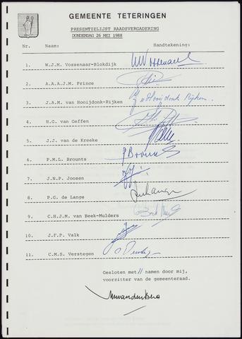 Teteringen - Notulen en bijlagen van de gemeenteraad 1988-05-20