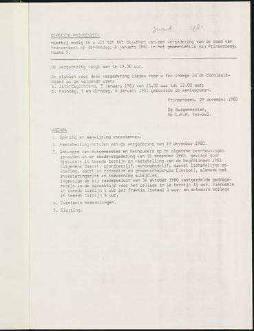 Prinsenbeek - Notulen van de gemeenteraad 1981