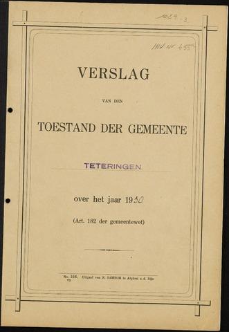 Teteringen - Verslagen van de toestand van de gemeente 1930
