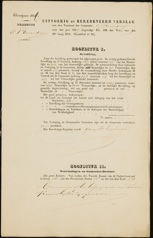 Princenhage - Verslagen van de toestand van de gemeente 1864