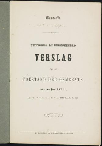 Princenhage - Verslagen van de toestand van de gemeente 1870