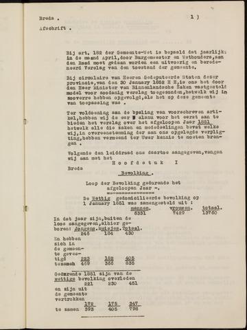 Breda - Verslagen van de toestand van de gemeente 1851-01-01