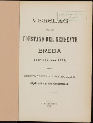 Breda - Verslagen van de toestand van de gemeente 1891
