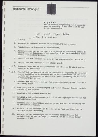 Teteringen - Notulen en bijlagen van de gemeenteraad 1990-05-31