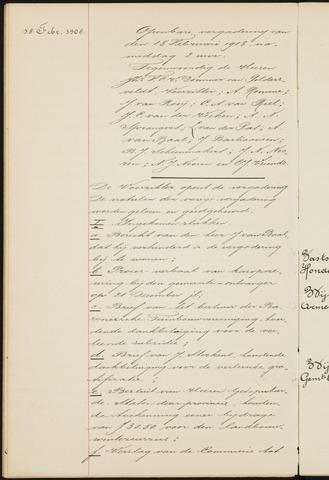 Princenhage - Notulen van de gemeenteraad 1908