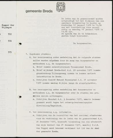 Breda - Bijlagen bij de notulen van de gemeenteraad 1978