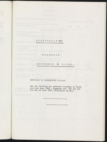 Ginneken en Bavel - Verslagen van de toestand van de gemeente 1885