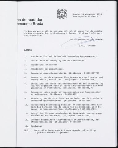 Breda - Bijlagen bij de notulen van de gemeenteraad 1997