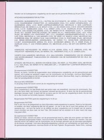 Breda - Notulen van de gemeenteraad 2004-06-24
