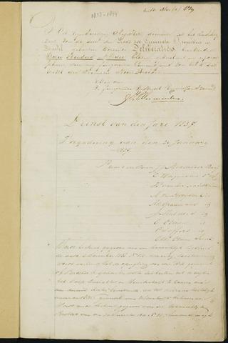 Ginneken en Bavel - Notulen van de gemeenteraad 1837-01-01