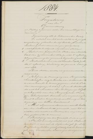 Teteringen - Notulen en bijlagen van de gemeenteraad 1884