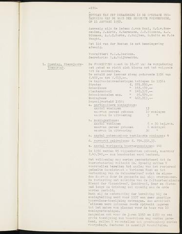 Prinsenbeek - Notulen van de gemeenteraad 1957