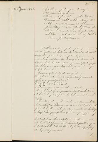 Princenhage - Notulen van de gemeenteraad 1905-01-01