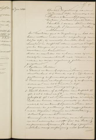 Princenhage - Notulen van de gemeenteraad 1892-01-01