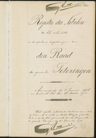 Teteringen - Notulen en bijlagen van de gemeenteraad 1924