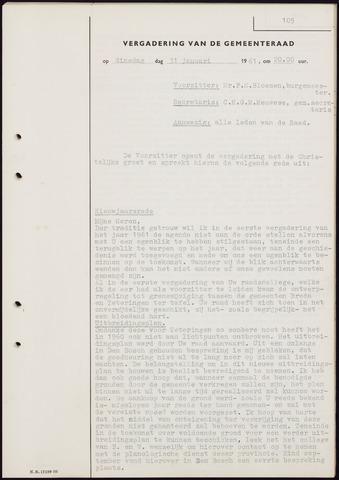 Teteringen - Notulen en bijlagen van de gemeenteraad 1961