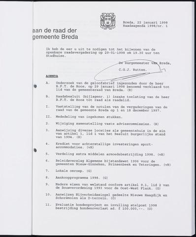 Breda - Bijlagen bij de notulen van de gemeenteraad 1998-01-01