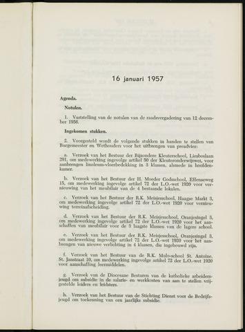 Breda - Notulen van de gemeenteraad 1957