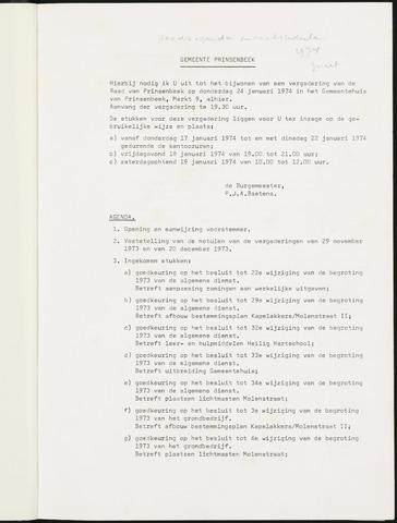 Prinsenbeek - Notulen van de gemeenteraad 1974