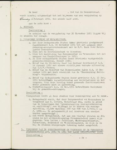 Nieuw-Ginneken - Notulen en bijlagen van de gemeenteraad 1952