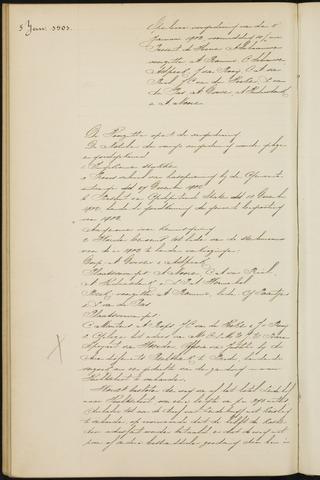 Princenhage - Notulen van de gemeenteraad 1903