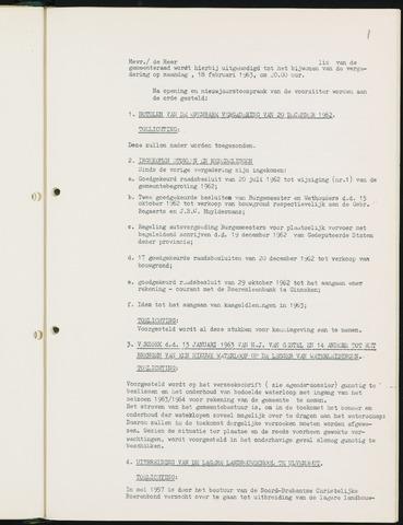 Nieuw-Ginneken - Notulen en bijlagen van de gemeenteraad 1963
