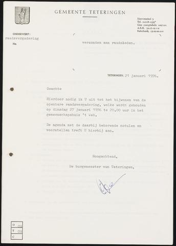 Teteringen - Notulen en bijlagen van de gemeenteraad 1976-01-27