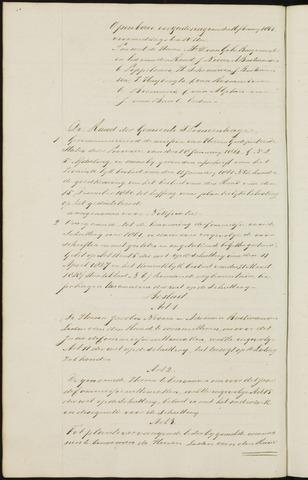 Princenhage - Notulen van de gemeenteraad 1861