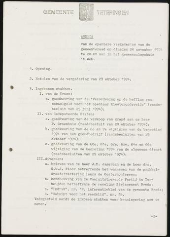 Teteringen - Notulen en bijlagen van de gemeenteraad 1974-11-26