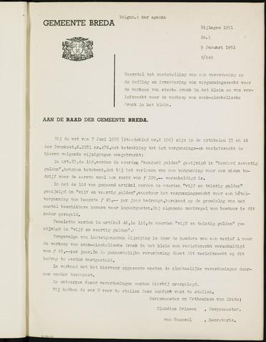 Breda - Bijlagen bij de notulen van de gemeenteraad 1951