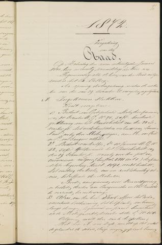 Teteringen - Notulen en bijlagen van de gemeenteraad 1872