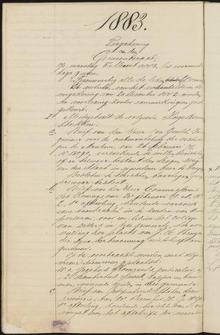 Teteringen - Notulen en bijlagen van de gemeenteraad 1883