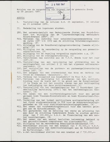 Breda - Notulen van de gemeenteraad 1987