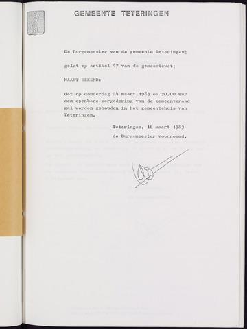 Teteringen - Notulen en bijlagen van de gemeenteraad 1983-03-24