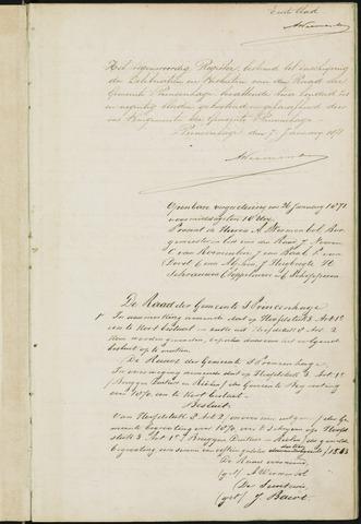Princenhage - Notulen van de gemeenteraad 1871-01-01