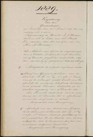 Teteringen - Notulen en bijlagen van de gemeenteraad 1889